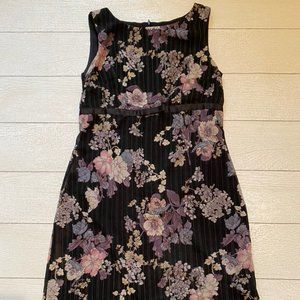 Rabbit Black business casual dress with flowers